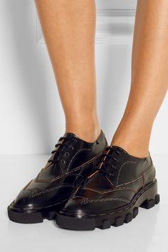 Balenciaga Derby leather brogues NET-A-PORTER.COM