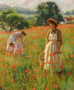 Gregory Frank Harris The Poppy Field