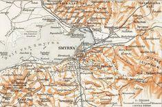 Buca'yı da gösteren İzmir haritası. 1914 yılı.