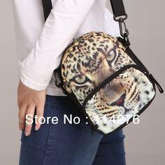 Leopard pattern printing multifunctional single shoulder bag cross boday bag , waist bag BBP101W $23.56