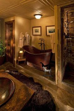 Gorgeous rustic style bathroom