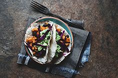 cinco de mayo // sweet potato and black bean tacos // the little red house