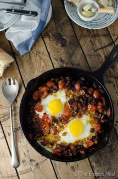 Chorizo tomato and egg skillet breakfast #breakfast   #breakfastskillet