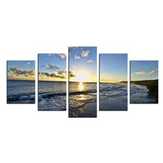 Found it at Wayfair - 'Day Break' by Christopher Doherty 5 Piece Photographic Print on Wrapped Canvas Set Canvas Art Prints, Painting Prints, Canvas Wall Art, Paintings, Metal Wall Art, Wood Art, Oversized Wall Art, All Wall, Wall Art Sets