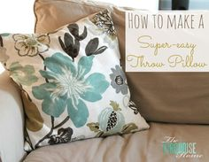 Living Room Makeover - Part 6: Super-Easy Throw Pillows
