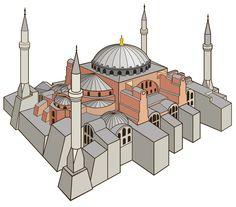 Hagia Sophia icon by lazunov on DeviantArt Byzantine Architecture, Mosque Architecture, Amazing Architecture, Modern Architecture, Hagia Sophia Istanbul, Ottoman Empire, Taj Mahal, History, Building