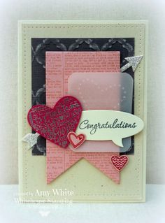 **Like the Heart in the Vellum** White House Stamping: Love Language Congratulations