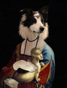 Bella's Gallery of Dog Art - Part 23 (Lady and Fairet) on Behance