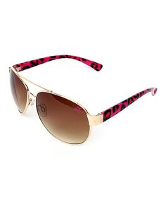 Look at this Betsey Johnson Pink Aviator Sunglasses on #zulily today!