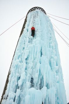 SILO ICE CLIMBING, Cedar Falls Silo ice climbing begins every year when the weather is consistently below 26 degrees. Ice Climbing, Mountain Climbing, Climbing Wall, Cedar Falls, Tourism Website, Fun Shots, Get Outdoors, Amazing Adventures, Winter Fun
