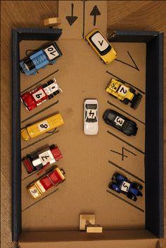 Spielerisch Zahlen lernen - DIY Parkgarage
