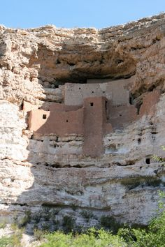 Montezuma's castle, a more complete set of cliff dweller ruins south of Flagstaff.