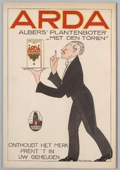 Arda Boter - 1910 #Reclame #advertentie #ad #boter #butter #cultuur #holland