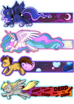 MLP bookmarks by Willow-San on DeviantArt My Little Pony Party, Little Pony Birthday Party, My Little Pony Comic, My Little Pony Pictures, Mlp My Little Pony, Anniversaire My Little Pony, My Little Pony Wallpaper, Celestia And Luna, Imagenes My Little Pony