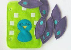 Build a peacock quiet book page QB134