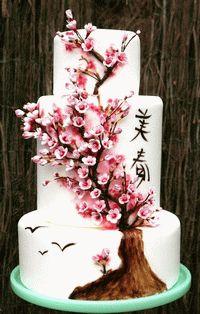 Japanese Cherry Three Cake