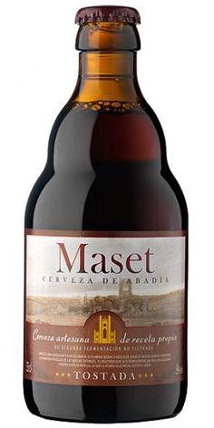 Cerveza Abadía Maset Tostada.  Un cuerpo de impresión.  Quien mejor que los monjes cisterciense para conocer los secretos de una buena cerveza tostada de Abadía. Al igual que ellos, Maset del Lleó realiza su segunda fermentación en botella y no la somete a filtración. Así consigue un intenso cuerpo y un sabor prolongado. Se presenta en un envase de 33cl.