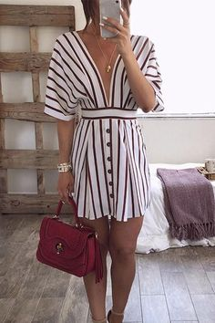 Swans Style is the top online fashion store for women. Shop sexy club dresses, jeans, shoes, bodysuits, skirts and more. Women's Fashion Dresses, Dress Outfits, Casual Dresses, Casual Outfits, Women's Dresses, Diy Vetement, Women's Summer Fashion, Casual Looks, Beautiful Dresses