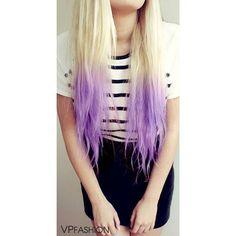 VPfashion Pastel Lavender Lilac Purple Dip Dye Pastel Clip In Hair... ❤ liked on Polyvore