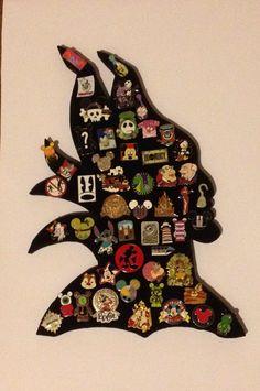 Malificent Disney Villain pin display. Hold 45 by PinDisplaysPlus