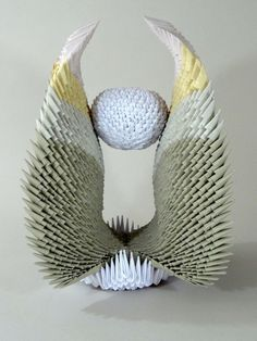 contemporary paper sculpture - chinese modular origami