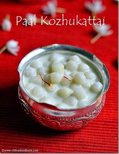 Easy paal kozhukattai recipe using milk,coconut milk powder and sugar for Vinayagar chathurthi - chettinad style recipe Recipes Using Coconut Milk, Recipe Using Milk, Indian Dessert Recipes, Indian Sweets, Indian Snacks, Indian Recipes, Bread Roll Recipe Indian, Best Cinnamon Rolls, Ayurvedic Recipes