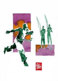 Encres : Capoeira – 558 [ #capoeira #watercolor #illustration]