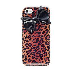 I love the GREENE Greene + Gray Leopard Bow iPhone 5 Case from LittleBlackBag