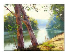 TUMUT RIVER Oil Painting landscape fine art by G.Gercken by GerckenGallery | Etsy