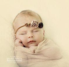 Sleeping newborn baby poses