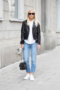 Todays Outfit – Leather Jacket And Jeans.