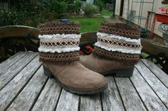 Bespoke Boot Cuffs, Boot Covers  - Boho, Hippie, tribal, Fringe, Festival