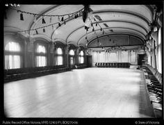 Flinders St ballroom, Public Transport Corporation Photographic Collection. PROV
