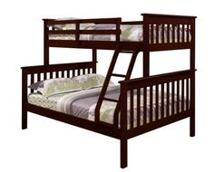 Bunk Bed Twin over Full Mission Style in Cappuccino DONCO $399.62 and free shipping 4.5 star review http://www.amazon.com/dp/B004XKCMJ0/ref=cm_sw_r_pi_dp_Z4k-tb1PRP9RZ