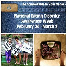 National Eating Disorder Awareness Week starts today! Promote awareness! Remind the world that beauty has nothing to do with the size of your jeans, and a number on a scale does not have the capacity to measure your worth <3