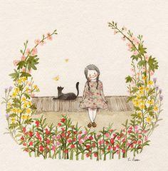 """울 밑에 선 봉선화.... 줄기에서 노오란 물이 나오는 애기똥풀.. 울엄마가 참 좋아하시던 접시꽃.. 우유를 섞은듯한 보라색 조뱅이... 마을 어디에서나...어느 집에서나 흔히 볼 수 있었던 소박한 꽃들은 투박한 흙집의 벽, 낡은 함석지붕, 이가 빠진 돌담들을 참 예쁘게 꾸며주었습니다. 꽃으로 가득한 동네길을 걸을때마다 """"꽃동네~새동네~~나의 옛고향~~~""""~~ 콧노래가 절로 나왔지요......"""