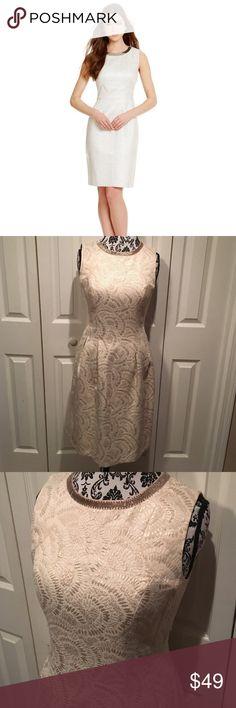 Antonio Melani metallic beaded collar sheath dress Excellent condition ANTONIO MELANI Dresses
