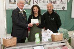 Jane & Terry of Redhill Farm Free Range Pork receive the President's  award at the 2013 Lincolnshire Show. www.redhillfarm.com