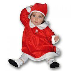 Ce déguisement de mère noël pour bébé comprend une robe et un bonnet.  Disponible… ba34c9df2d6