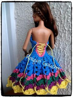#Anne #CamilaFashion #Crochet #Barbie #Muñeca #Doll #Vestido #Dress #RaquelGaucha