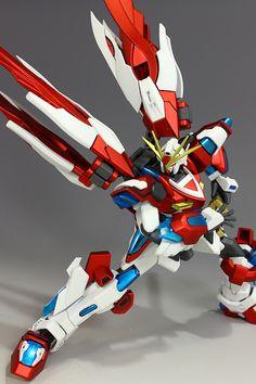 """Custom Build: HGBF 1/144 Kamiki Burning Gundam """"World Champ"""" - Gundam Kits…"""