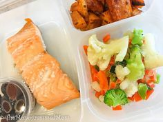 The Monogrammed Mom: Whole30 Lunch Box Series Part 1 - Salmon, Sweet Potatoes, Veggies, Olives