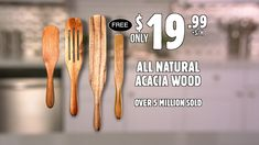 Spurtle - Official Commercial See On Tv, Acacia Wood, Cooking Tools, Kitchen Stuff, Commercial, Gift Ideas, Dishes, Tips, Recipes