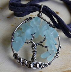 Eco Collection Light Aqua Sterling Silver by JerilynsCreations, $99.00
