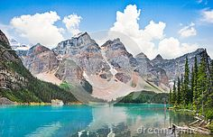 Moraine Lake In Banff National Park, Alberta, Canada - Download From Over 29 Million High Quality Stock Photos, Images, Vectors. Sign up for FREE today. Image: 43211314