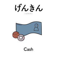 [499] げんきん | genkin | cash Kanji available on Patreon! #japaneselessons