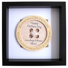Gifts For Mum, Mother Day Gifts, Button Frames, Mum Birthday Gift, Cool Wall Art, 3d Paper, Handmade Items, Handmade Gifts, Happy Day