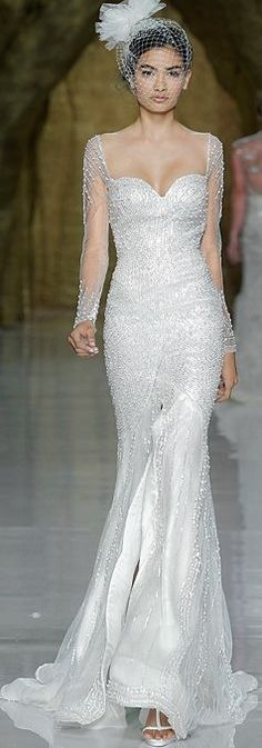 GORGEOUS!!! Love that there are so many wedding dresses with sleeves now.  #PRONOVIAS – #SPRING #2014