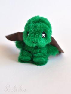 OOAK plush bunny toy miniature hare 35 stuffed by LelukoToys, $29.00