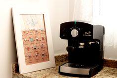 Ilustração com tipos de café para baixar e imprimir